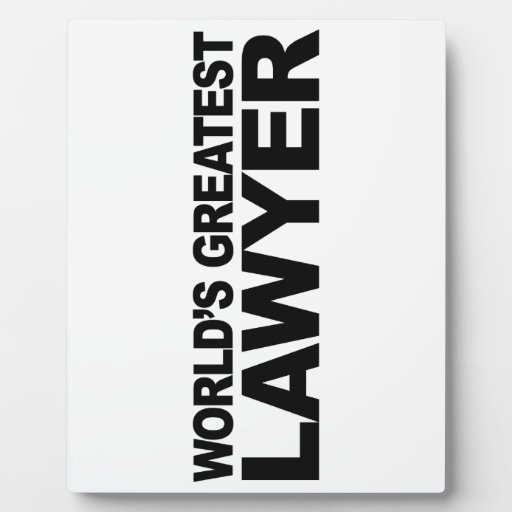 World's Greatest Lawyer Plaques