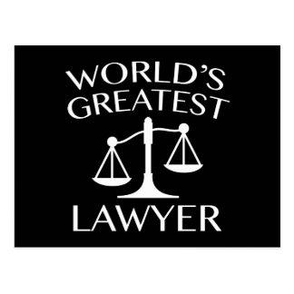 World's Greatest Lawyer Postcard