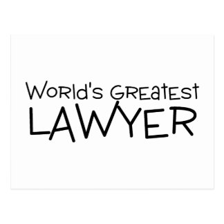 Worlds Greatest Lawyer Postcard