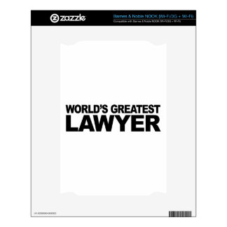 World's Greatest Lawyer Skins For The NOOK