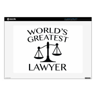 World's Greatest Lawyer Decal For Laptop