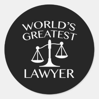 World's Greatest Lawyer Classic Round Sticker
