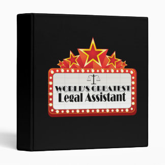 World's Greatest Legal Assistant 3 Ring Binder
