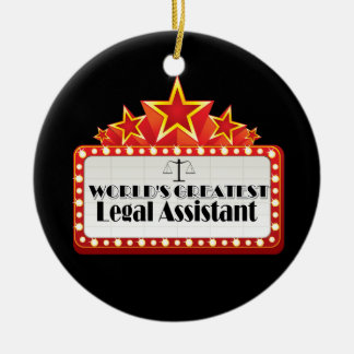 World's Greatest Legal Assistant Ceramic Ornament