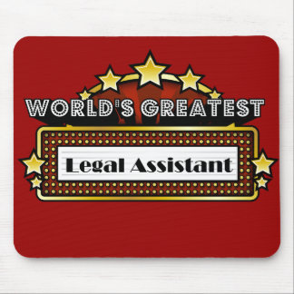 World's Greatest Legal Assistant Mouse Pad