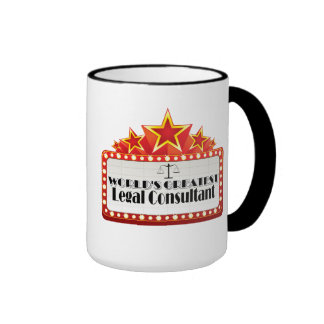 World's Greatest Legal Consultant Ringer Coffee Mug