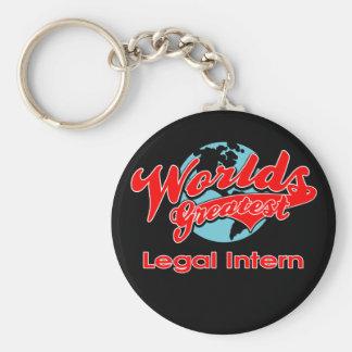 World's Greatest Legal Intern Basic Round Button Keychain