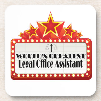 World's Greatest Legal Office Assistant Beverage Coaster
