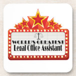 World's Greatest Legal Office Assistant Coasters