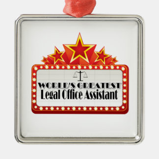World's Greatest Legal Office Assistant Metal Ornament