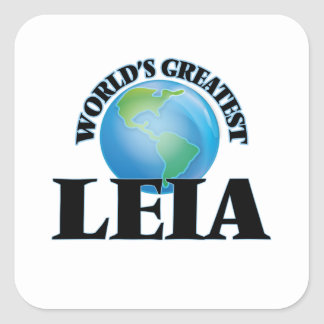 World's Greatest Leia Square Sticker