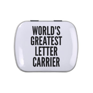 Worlds Greatest Letter Carrier Jelly Belly Tins