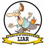 WORLDS GREATEST LIAR CARTOON ACRYLIC CUT OUTS