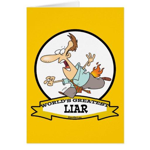 WORLDS GREATEST LIAR CARTOON CARDS
