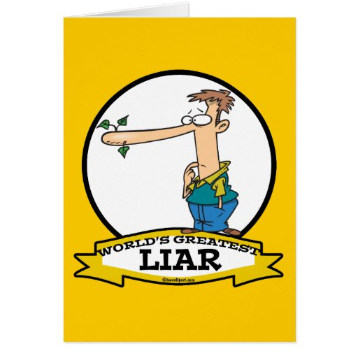 WORLDS GREATEST LIAR MALE CARTOON CARD
