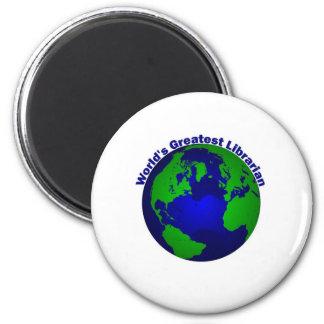 World's Greatest Librarian 2 Inch Round Magnet
