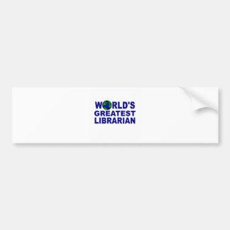 World's Greatest Librarian Bumper Sticker