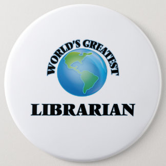 World's Greatest Librarian Button