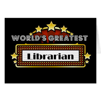 World's Greatest Librarian Card