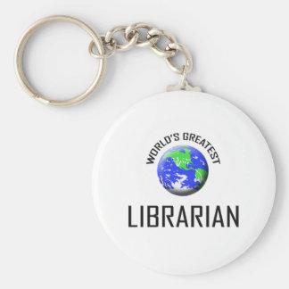 World's Greatest Librarian Keychain