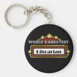 World's Greatest Librarian Keychains