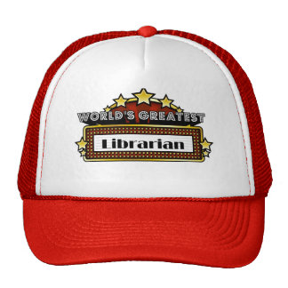 World's Greatest Librarian Mesh Hats