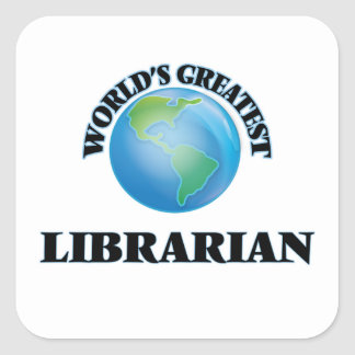 World's Greatest Librarian Stickers