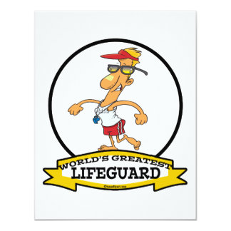 WORLDS GREATEST LIFEGUARD MEN CARTOON CARD