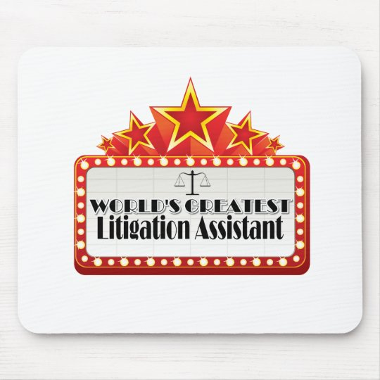 World's Greatest Litigation Assistant Mouse Pad