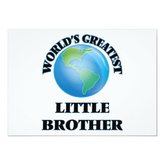 World's Greatest little Brother 5x7 Paper Invitation Card