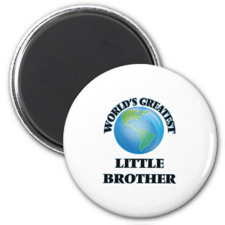 World's Greatest little Brother Magnets