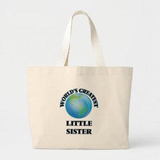 World's Greatest Little Sister Jumbo Tote Bag
