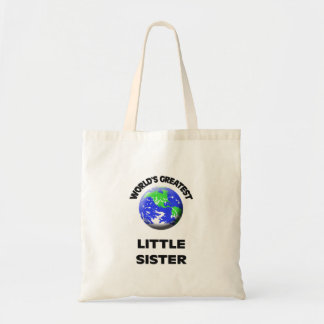 World's Greatest Little Sister Budget Tote Bag