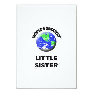 World's Greatest Little Sister 5x7 Paper Invitation Card