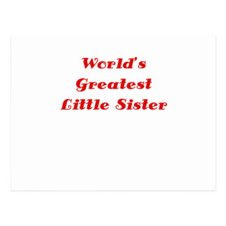 Worlds Greatest Little Sister Postcard