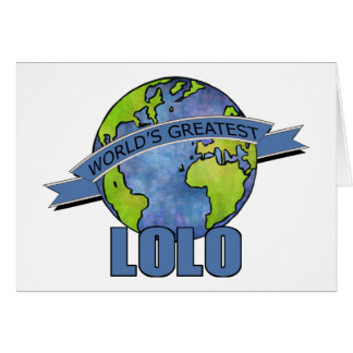 World's Greatest Lolo Card