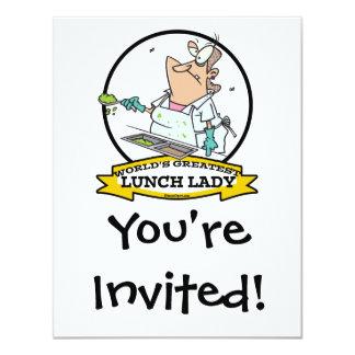 WORLDS GREATEST LUNCH LADY CARTOON CARD