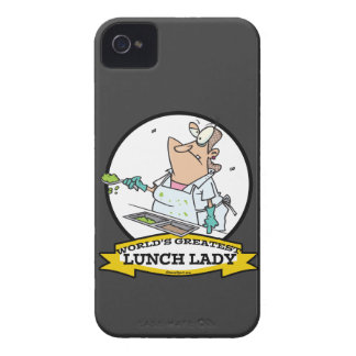 WORLDS GREATEST LUNCH LADY CARTOON iPhone 4 CASE