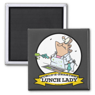 WORLDS GREATEST LUNCH LADY CARTOON REFRIGERATOR MAGNETS