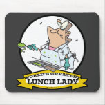 WORLDS GREATEST LUNCH LADY CARTOON MOUSE PAD