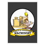 WORLDS GREATEST MACHINIST MEN CARTOON ANNOUNCEMENTS