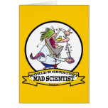 WORLDS GREATEST MAD SCIENTIST MEN CARTOON GREETING CARD