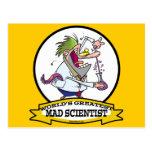 WORLDS GREATEST MAD SCIENTIST MEN CARTOON POSTCARD