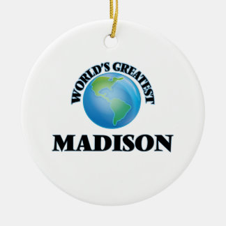 World's Greatest Madison Christmas Tree Ornament