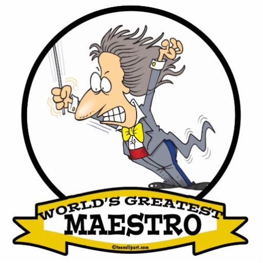 WORLDS GREATEST MAESTRO MEN CARTOON PHOTO SCULPTURES
