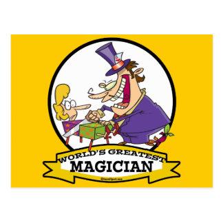 WORLDS GREATEST MAGICIAN II CARTOON POSTCARD