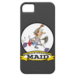 WORLDS GREATEST MAID WOMEN CARTOON iPhone SE/5/5s CASE