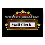 World's Greatest Mail Clerk Card