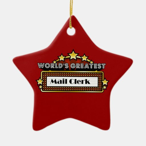 World's Greatest Mail Clerk Christmas Ornament