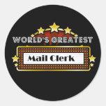 World's Greatest Mail Clerk Round Sticker
